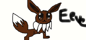 eevee the pokemon :D by marionettexeeveexfox