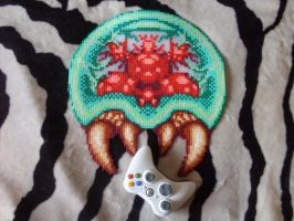Super Metroid - Big Metroid #2 Perler Bead Sprite by BigBossFF