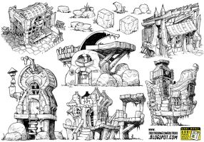 6 monster house concepts by STUDIOBLINKTWICE