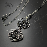 Diluculum - silver necklace by JoannaWatracz