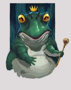 Frog King by Gorgonzola