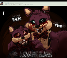 ASK FNAF Bucky Question NO.5 by KasaraWolf