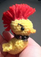 Punk duck by Yarnigurumi