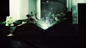 Open magic book by ImAays