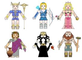 Greek Mythology Minimates2 by Chazwinski