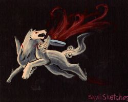 Amaterasu by skylisketches