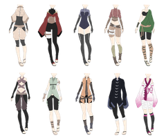 Naruto Outfit Adoptables 4 [CLOSED] by xNoakix3