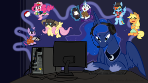 Luna Desktop 1366x768 by Ruby-Sunrise
