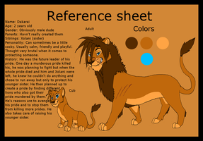 Dakarai reference sheet by ZeCrazyAngel