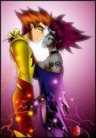TT - Jinx and Kid Flash Cozy by What-the-Gaff