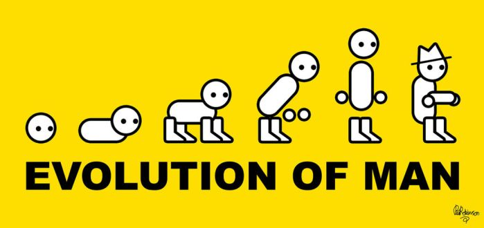 Evolution of Man by Toppot