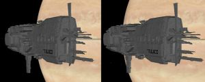 3d Aliens Sulaco Warship-2 by 3dpinup