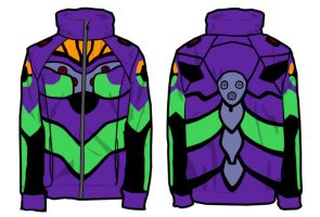 Eva Unit 01 Jacket Concept by ArtistMeli