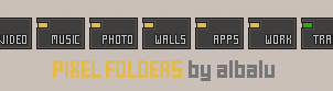 Pixel Folders by albalu