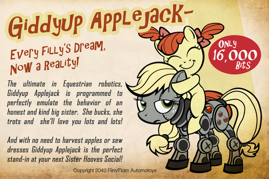 Giddyup Applejack by PixelKitties