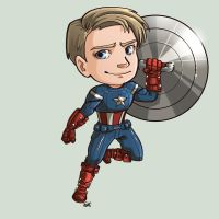 Sticker - Captain America by oneoftwo