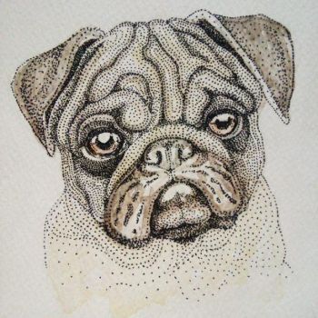 Another portrait of a Pug by artifexToils