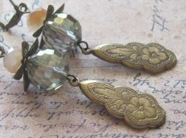 Jeweled Flower Nile Earrings by LKJSlain