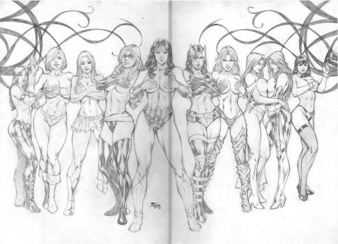 Fred Benes: Women of Comics by comiconart