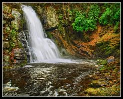 Bushkill Main Falls in HDR by Dracoart