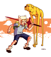 Finn and Jake by dkirbyj