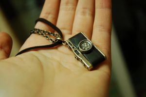 Vintage Camera Necklace by paperplane-products