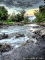 Haw River by abstractcamera