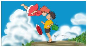Ponyo Wallpaper by Wintu