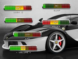 Chrome Meters Pack for xwidget by jimking
