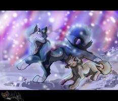 .Blu and Avin. WE ARE ONE AND I WILL GUIDE YOU by Wolf-Chalk