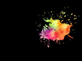 Colour Splatter Wallpaper by redterrorNMD