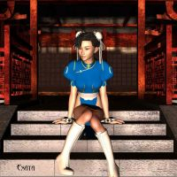 Contemplation_ _ _ Chun Li by exata