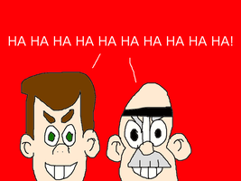 Eustace Strych and Prof. Calamitous' Evil Laugh by mjeddy