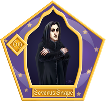 Chocolate frog cards. Severus Snape by yanus-sin