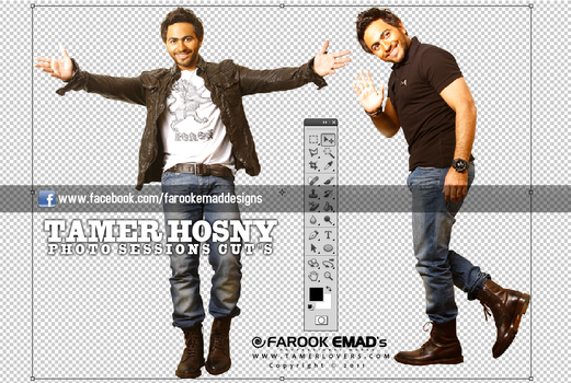 SESSIONS CUTS TAMER HOSNY PNG by farookdesigner