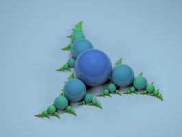 Fractal Sculpture 1 - Blue by Ratow