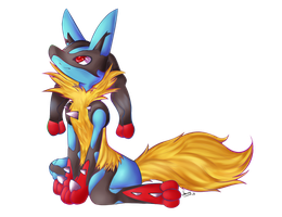 Mega Lucario by AquaDiamonds