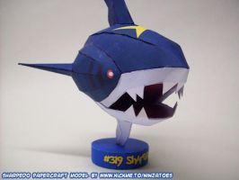 papercraft Sharpedo front by ninjatoespapercraft