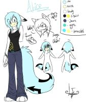 Alices New Ref Sheet by lazyfoxxx
