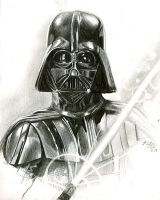 darth vader sketch 2 by bamboleo