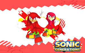 Sonic Generations-Knuckles and Classic Knuckle by Nibroc-Rock