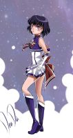 Super Sailor Saturn - New Outfit Redesign by DeaDia89