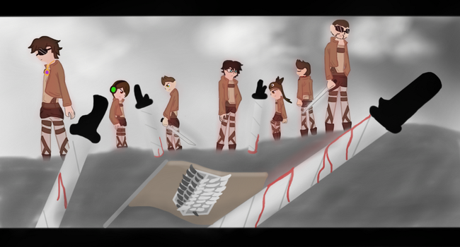 Team Crafted: Attack on Titan by Koopa-Doll