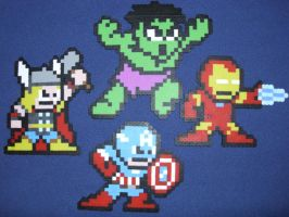 The Avengers by PerlerPixelPals