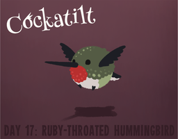 Birdstarter Day 17: Ruby-Throated Hummingbird by Furrama