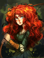 ::Brave:: Merida Speedpaint by Jotaku