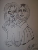 Chucky and Tiffany together by chuckylover