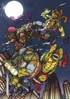 TMNT - Napoli Comicon 2014 (Color) by darnof
