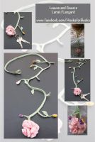 Leaves and Flowers Lariat or Lanyard by LaMorocha66