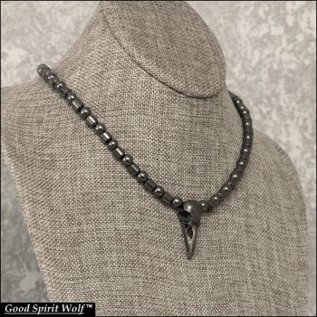 Supernatural Dark Arts Raven Skull Necklace by GoodSpiritWolf